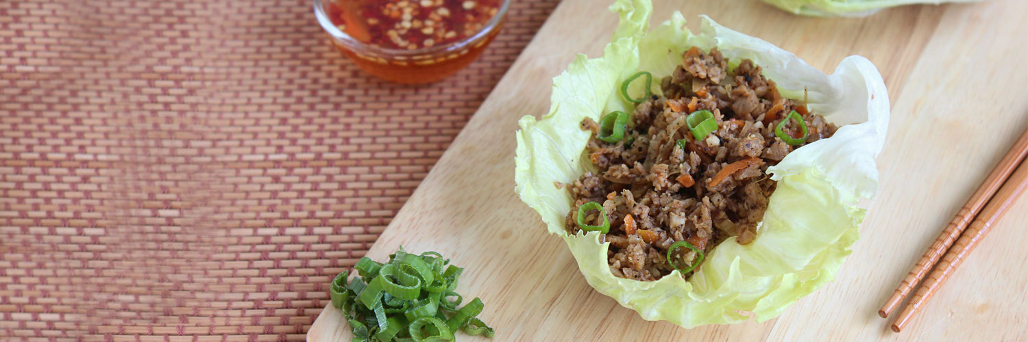 Rainbow Lettuce Wraps With Nutrela Soya