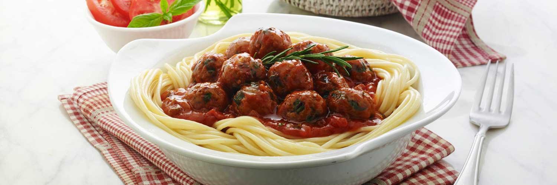 Spaggetti With Nutrela Soya Meatballs