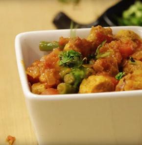 Nutrela Soya Carrot Beans Ki Sabzi