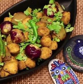 Pyaz Ki Chatpati Sabji With Nutrela Soya