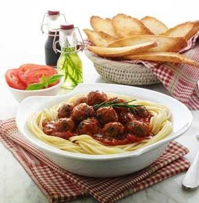 Spaggetti With Nutrela Soya Meatballs