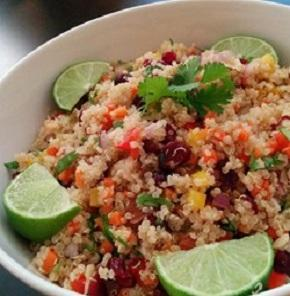 Nutrela Soya Quinoa Salad With Red Capsicum And Cilantro