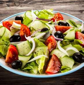 Greek Salad With Nutrela Soya Chunks