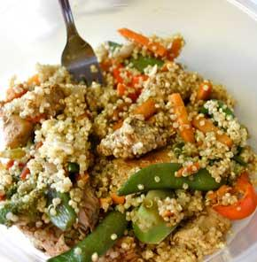 Nutrela Soya Quinoa Stir Fry